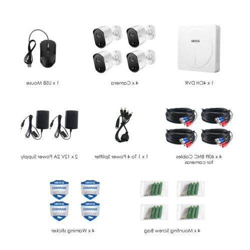 8 1080P 720p Security Camera System