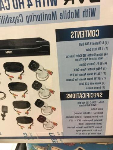 Cobra 8 Surveillance DVR 4 Kit 1TB