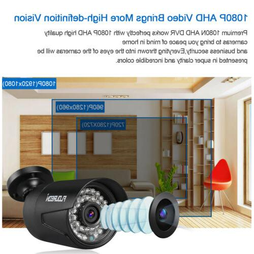 1TB, AHD 4x 3000TVL IR Video Home Security Camera