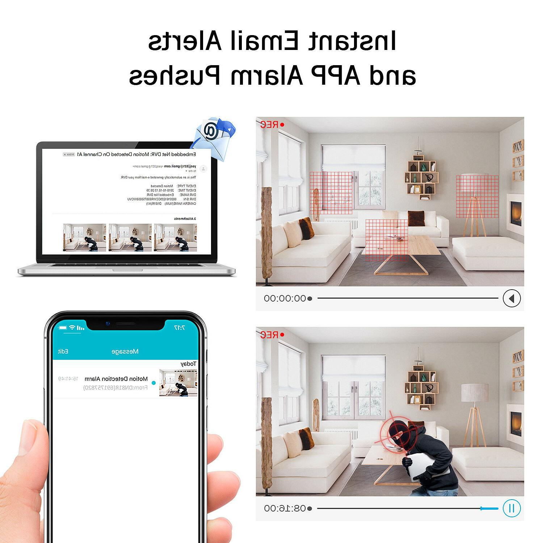 ANNKE 8CH 1080N 3000TVL 1080P Dome CCTV Security APP