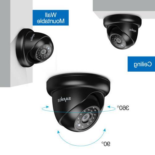 SANNCE 1080P HDMI DVR Security Camera Alert