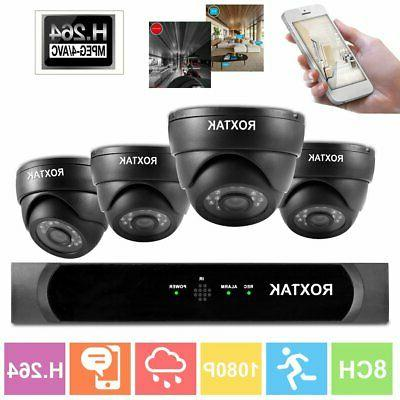 8ch 1080p surveillance kit outdoor home security