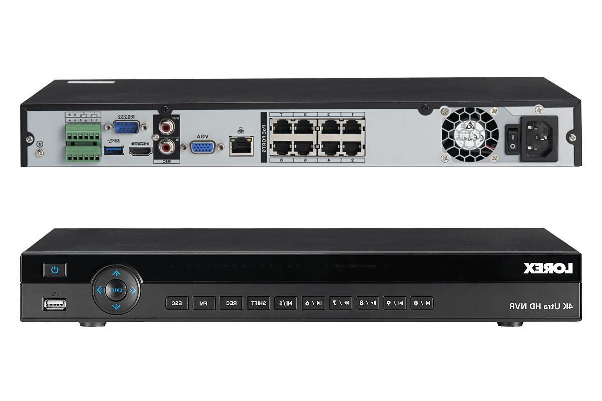 Lorex 8CH 4K NVR 6 Security - White/Black