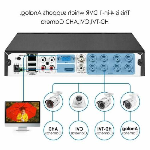 ZOSI 8 Channel 5MP DVR 1080p Recorder for Security Camera