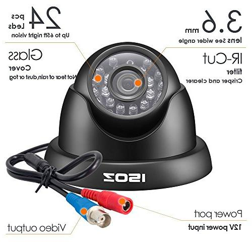 ZOSI 8CH System DVR Recorder with Bullet/Dome Cameras NO Smartphone, Access