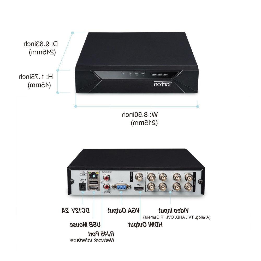 Tonton DVR 108P CCTV 2MP HD System Kits