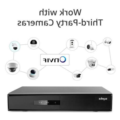 SANNCE H.264+ 4CH DVR CCTV Security Camera System Onvif