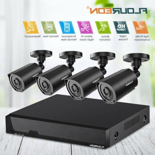HD 8CH 1080N DVR Video Outdoor Home Surveillance Security Ca