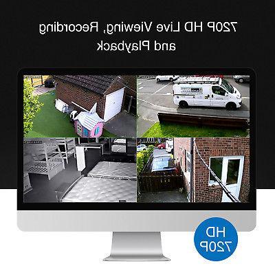 SANNCE 1080P HDMI DVR CCTV Video Camera System