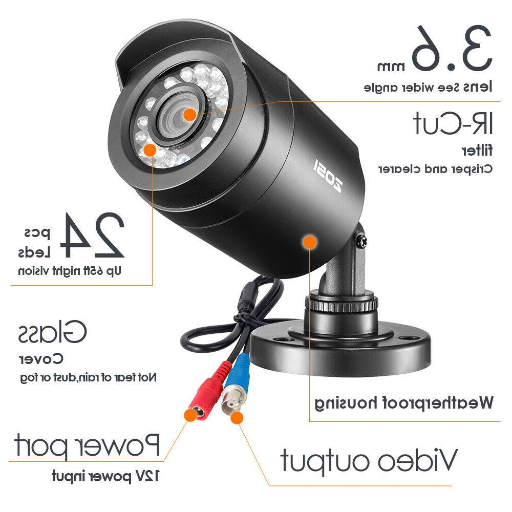 ZOSI 1TB Outdoor 720p Home Surveillance Camera System