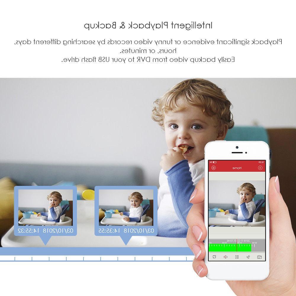 ZOSI 8CH DVR 1TB HDD Home Surveillance Camera System