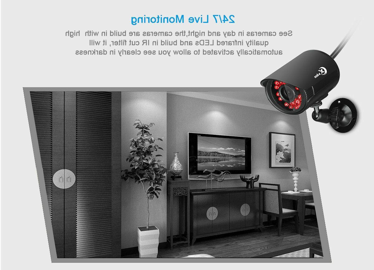 XVIM 8CH 1080P DVR Outdoor Night 1920TVL CCTV Security System