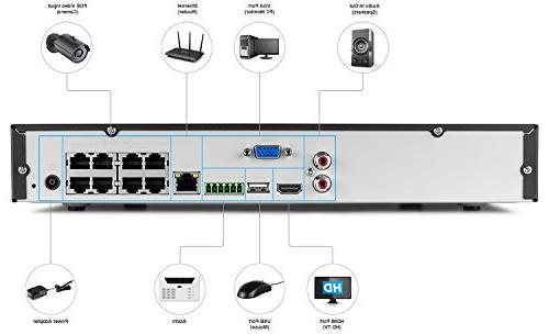 Amcrest UltraHD Network Video System - Four 4MP POE HDD Over Ethernet