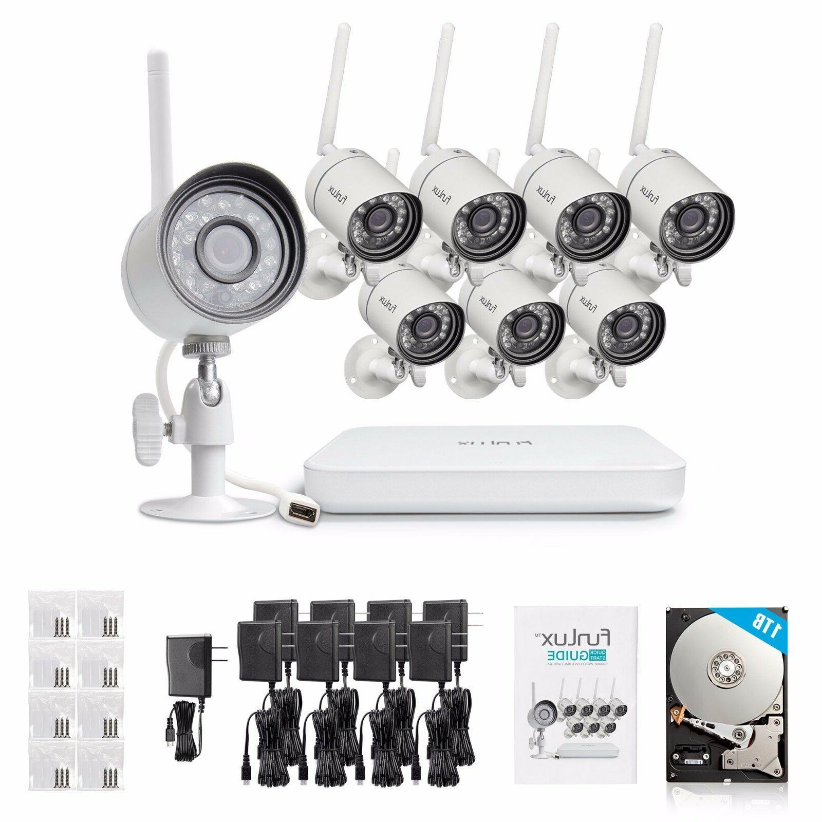 Funlux 1080p NVR 8 Network Outdoor Wireless System
