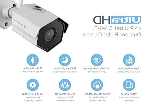 Amcrest 8CH 4MP Camera w/ 4K NVR, x IP67 Weatherproof WiFi IP Cameras, Hard Drive NV4108-HS-IP4M-1026W4