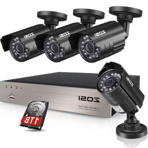 8ch security camera system hd tvi 1080n