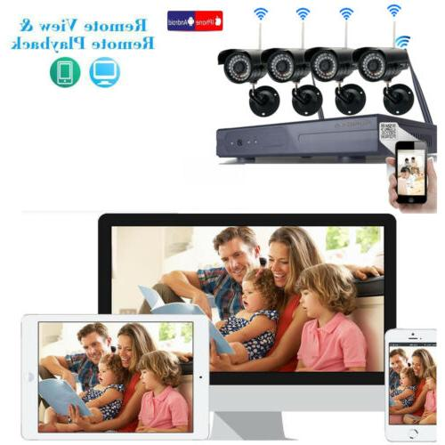 Wireless NVR In/Outdoor WIFI Detection Security System