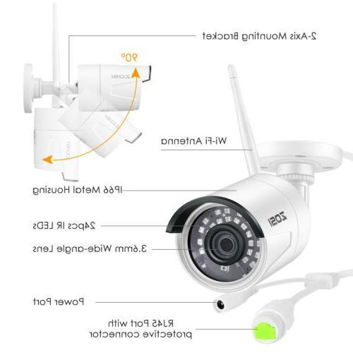 ZOSI Wireless Security IP 3TB Hard Drive WIFI NVR
