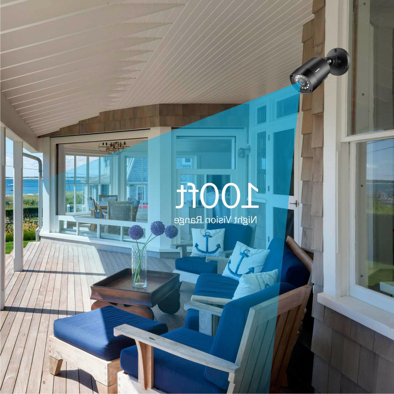 ANNKE 8CH Lite DVR 2500TVL Home Camera NO 1TB