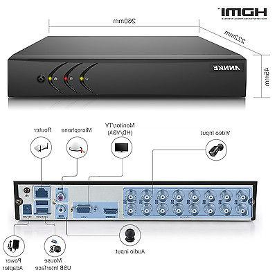 ANNKE 8CH/ 4CH 1080P Lite DVR Recorder System