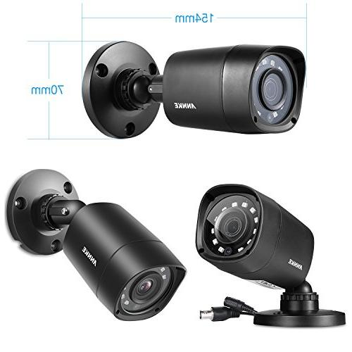 ANNKE Security System 8 Channel Lite HDD 1080P Outdoor IP66 Weatherproof Cameras, Playback, Email with Images