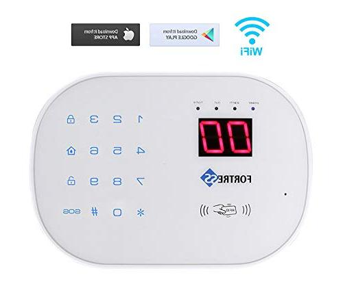 with -App Controlled Updated WiFi and Landline Alarm System Wireless Security System by Fortress Security Store- Easy to