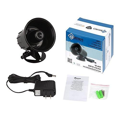 Fortress Store Loud Indoor/Outdoor Weatherproof Siren for and Business Systems