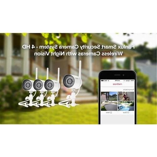 Funlux Smart Security Camera Wireless Cameras Night White