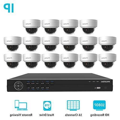 LaView Premium PoE IP 16 Camera Security Surveillance System