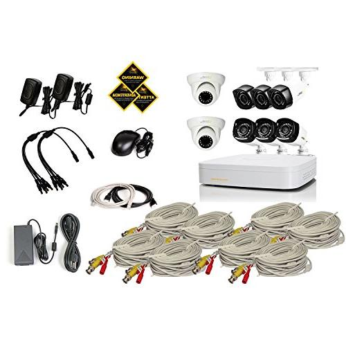 Q-See 8 QC938-8Z1-1 with Cameras, Dome Cameras,