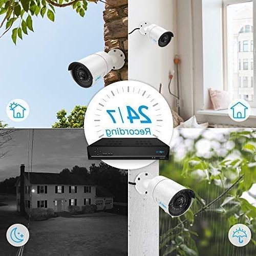 Reolink 4MP Video 8 x Wired 1440P Supported 16 NVR Security System w/ 3TB HDD RLK16-410B8