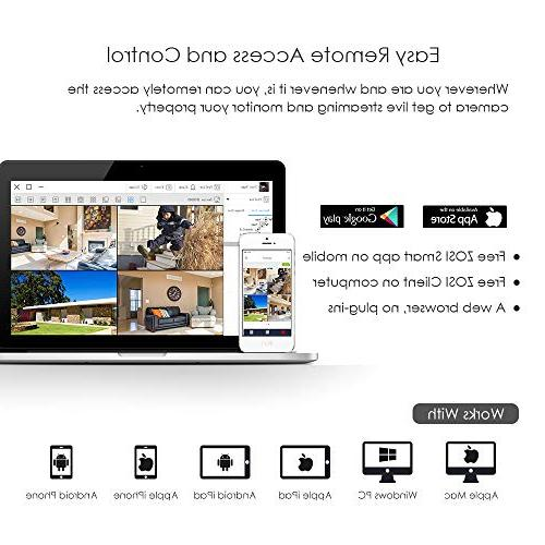 ZOSI 8 4-in-1 CCTV DVR 8CH Digital 1TB Hard Drive 720P,1080P Security