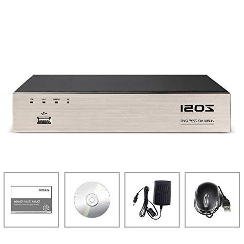 ZOSI 8 4-in-1 HD CCTV DVR Network Detection 8CH 1TB Hard Drive 720P,1080P
