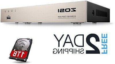 ZOSI 1080N/720P 8 channels 4-in-1 DVR HD TVI CCTV DVR Securi