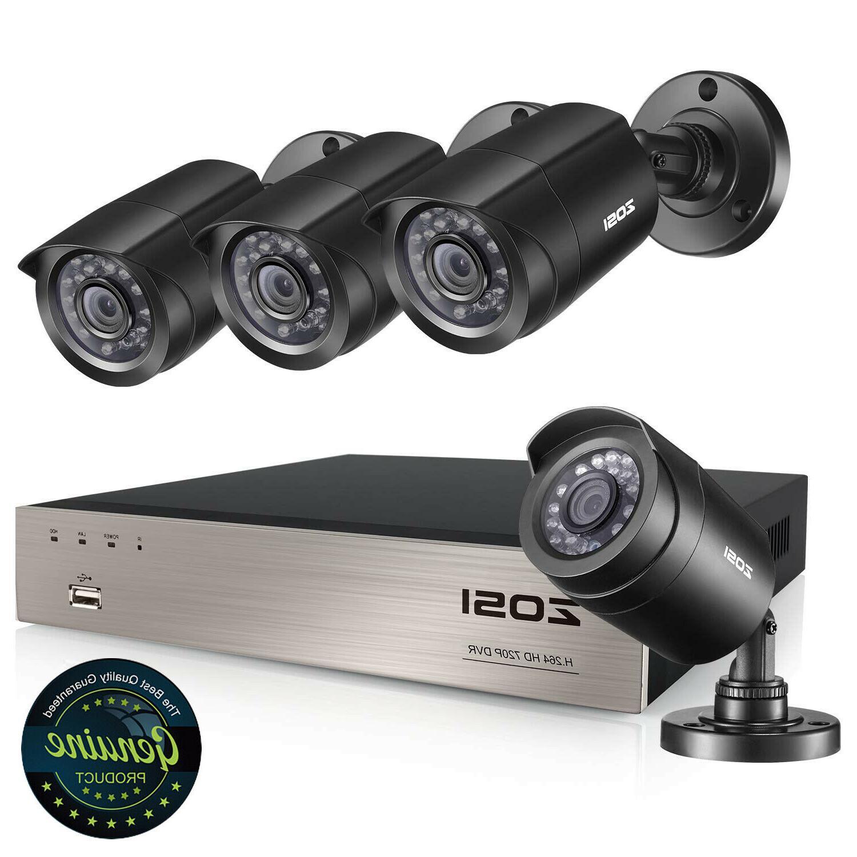 ZOSI 8-Channel HD-TVI 1080N/720P Video DVR recorder with 1280TVL Indoor/Outdoor Weatherproof Cameras Hard ,Motion Alert, Smartphone& Easy Remote