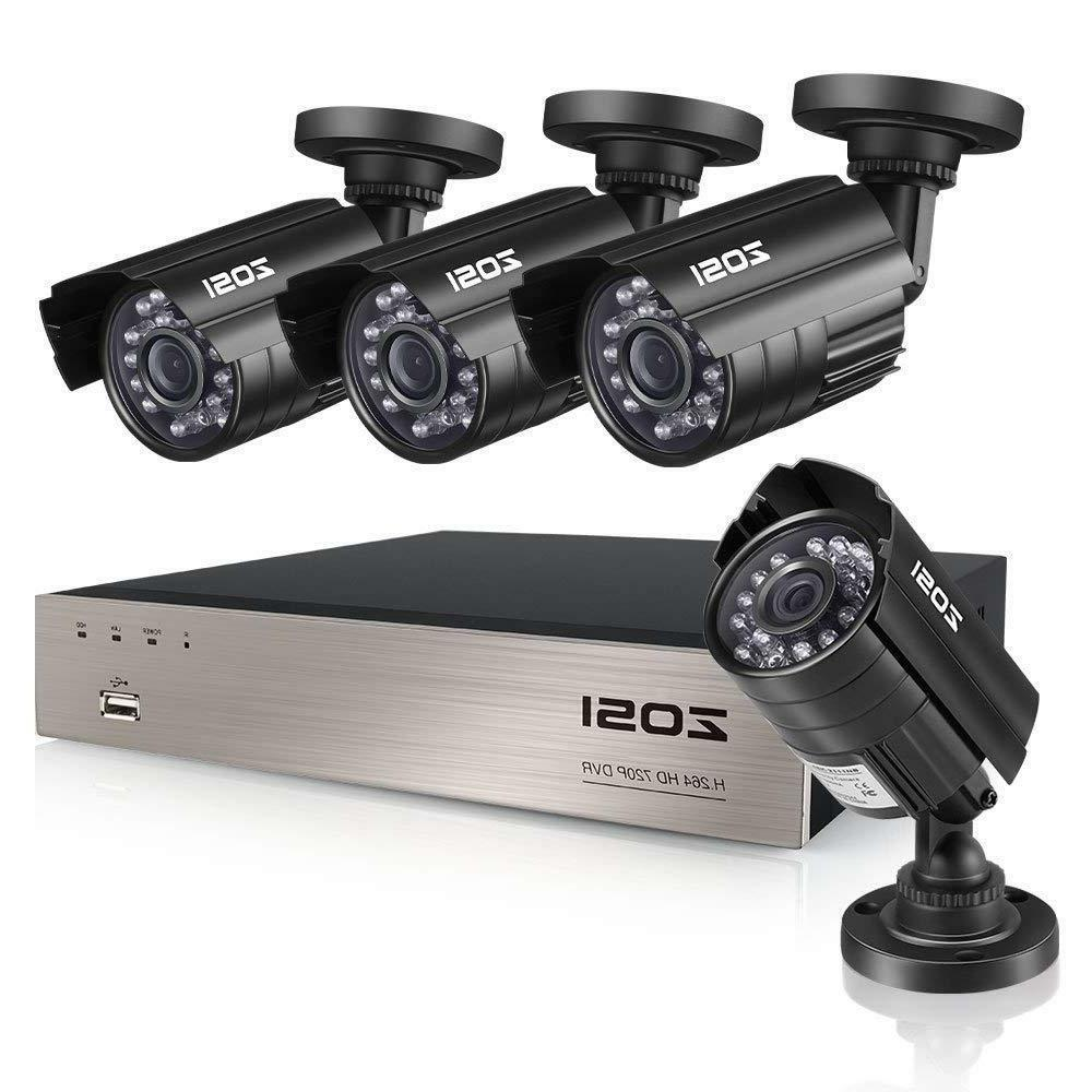 ZOSI 8-Channel HD-TVI 1080N/720P Video Security System DVR r