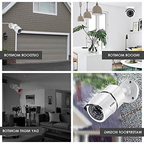 ZOSI 8CH 1080P Video Security 4X 1080P Weatherproof Surveillance System 1TB