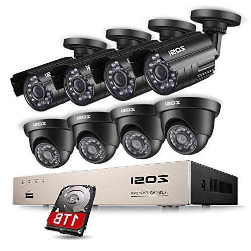 ZOSI Security Camera System 8CH 4-IN-1 HD-TVI 1080N/720P Sur