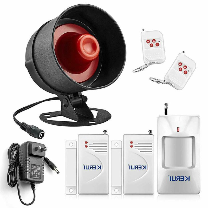 Alarm Home Security System Siren Remote Wireless Motion Sens