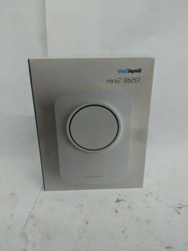 brand new extra siren security system white