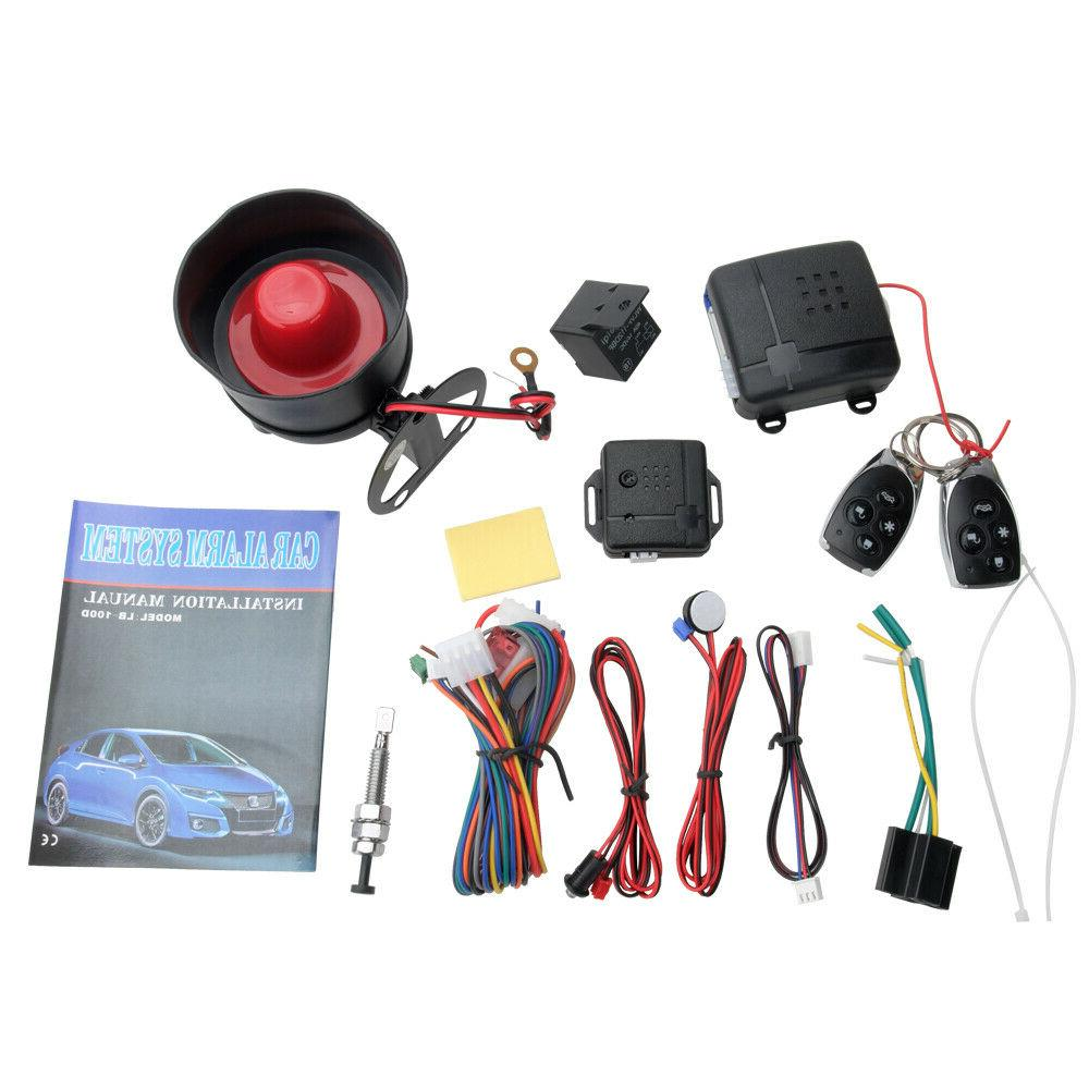 Keyless Entry Car Alarm Security System, 2 Key Fob Remote Co