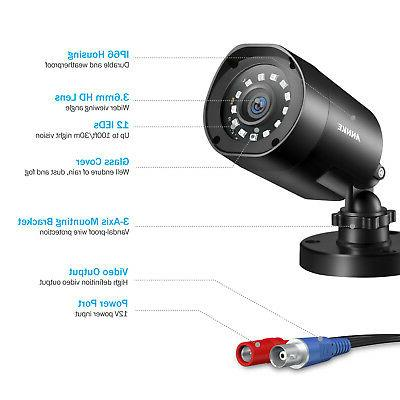 ANNKE 2MP Camera Security 8CH DVR 1TB