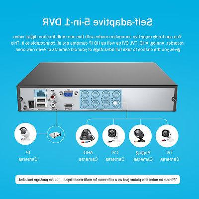 ANNKE 8 Channel 1080N DVR 1800TVL CCTV Security Camera System Hard