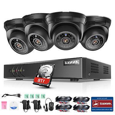 ANNKE DVR CCTV Security Camera 1TB Hard Drive