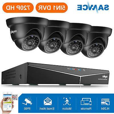 SANNCE HD 1080N 8 Channel DVR 1500TVL TVI Outdoor IR Home Se