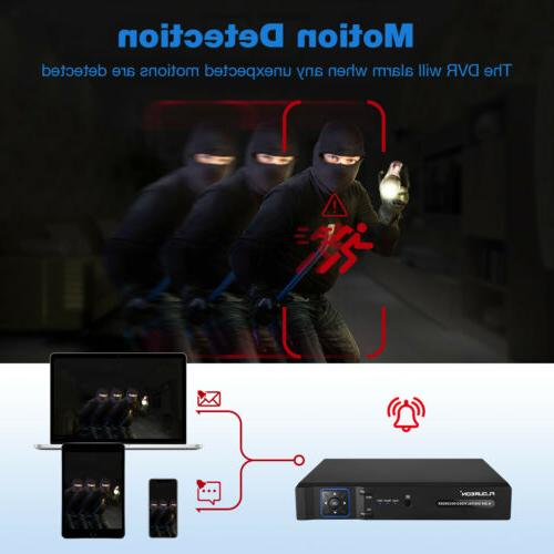 8Channel DVR 1080N HDMI 5-In-1 Hybrid Recorder 1500TVL Home Security System