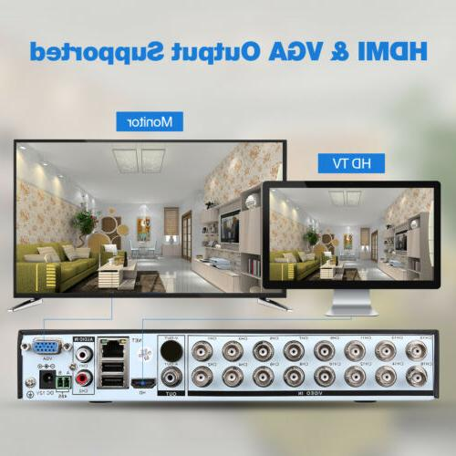 16Channel DVR HDMI 5-in-1 for Security Kit