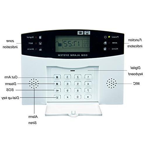 AG-security™ GSM SMS Home Burglar Alarm Detector Sensor Kit Remote Control