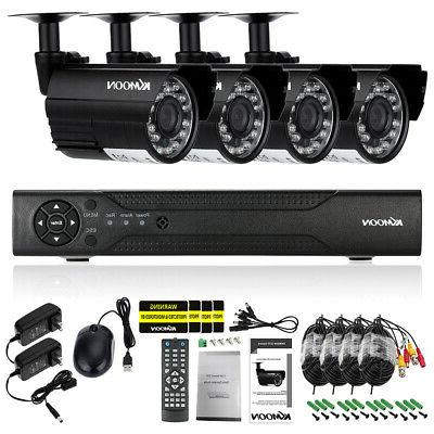 KKMOON 4CH CCTV Security System Onvif