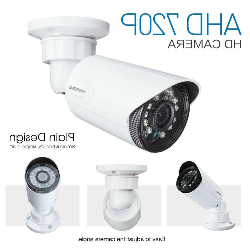 H.View video 4CH high-resolution security system
